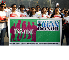 organ india is running in airtel delhi half marathon