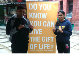 organ donation awareness at imt ghaziabad