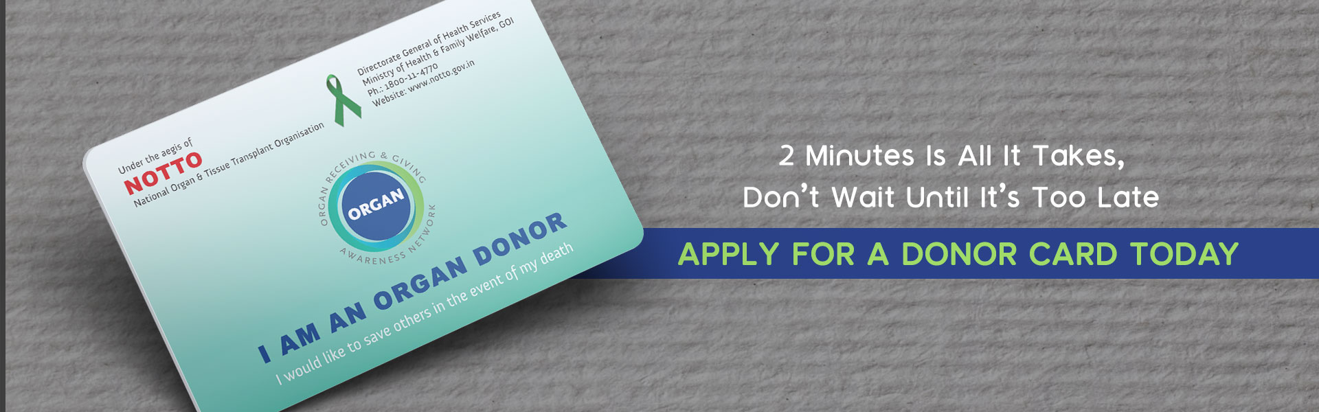 be an organ donor and claim your donor card
