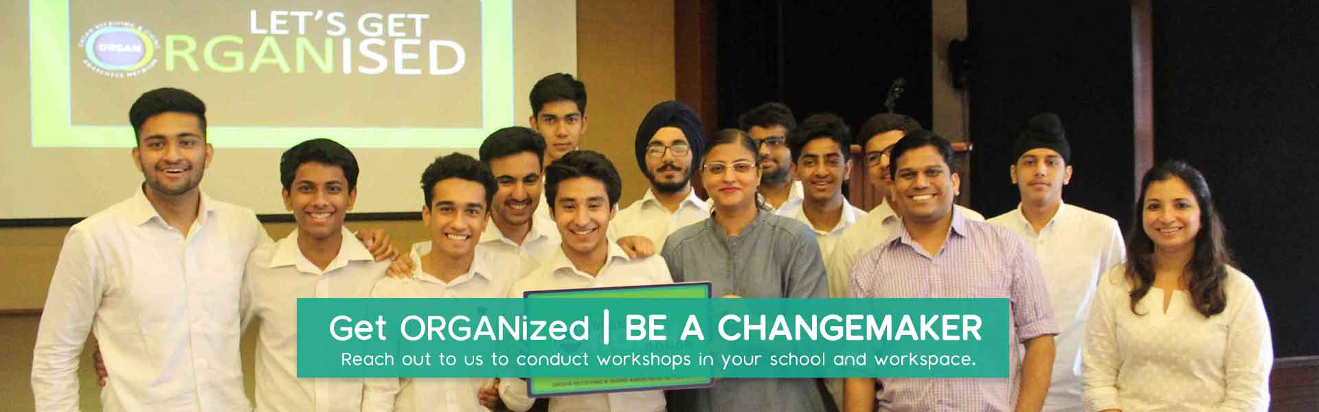 Get organized be a changemaker