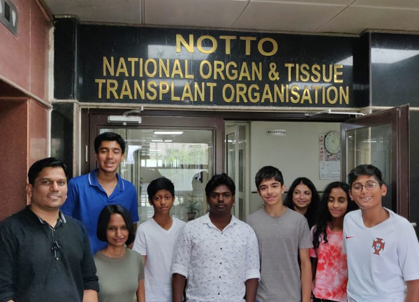 Field trip of ORGAN India student interns to NOTTO