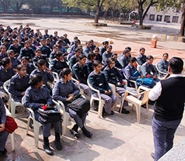 An awareness session was conducted by ORGAN India for NCC Girl Cadets